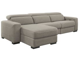 Signature Design by Ashley Mabton Series 3pc Fabric Sectional in Gray 77005-62-79-46