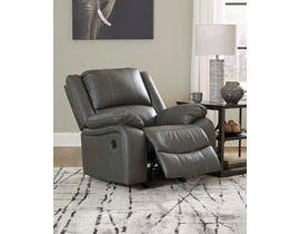 Signature Design by Ashley Calderwell Series Rocker Recliner in Gray 7710325