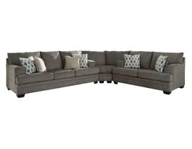 Signature Design by Ashley 3-Piece Fabric Sectional in Slate 77204S1