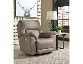Signature Design by Ashley Calvalcade Series Power Rocker Recliner in Slate 7760198