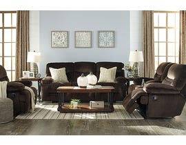 Signature Design by Ashley Brayburn Collection 3-Piece Fabric Manual Reclining Sofa Set in Brown 7770