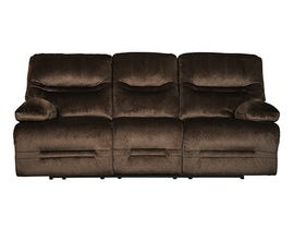 Signature Design by Ashley Brayburn Collection Fabric Power Reclining Sofa in Brown 7770