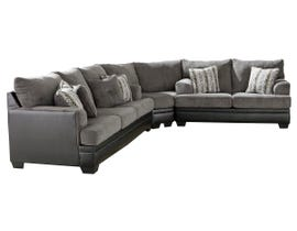Signature Design by Ashley Millinger Collectional Sectional in Smoke 78202