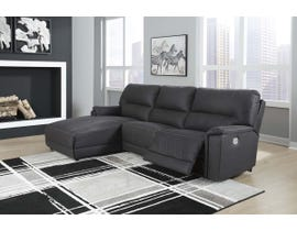Signature Design by Ashley Henefer Series LAF PWR Sectional in Midnight 78606
