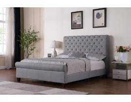 Brassex Daniella Platform Bed in Grey 7916-GR
