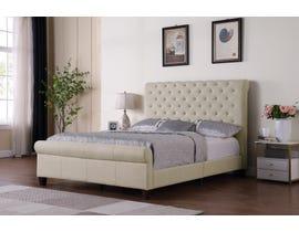 Brassex Daniella Platform Bed in Beige 7916-BEI