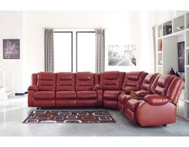Signature Design by Ashley 3-Piece Reclining Sectional in Salsa 79306S1