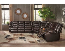 Signature Design by Ashley 3-Piece Reclining Sectional in Chocolate 79307S1