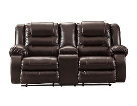 Signature Design by Ashley Reclining Loveseat with Console in Chocolate 7930794