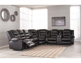 Signature Design by Ashley 3pc Reclining Sectional in Black 79308S1