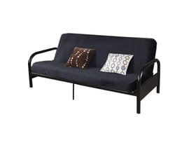 International Furniture Fabric Futon Sofa Bed in Black Futon IF-208