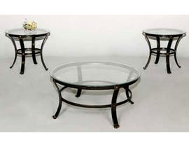 Standa 3 piece curved vintage coffee table set J457
