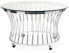 High Society Emma Collection Coffee Table in Chrome