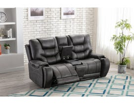 L-style Leather Look Power Reclining Loveseat in Mustang Cobalt U80143-42B