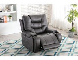 L-style Leather Look Power Recliner in Mustang Cobalt U80143-21B