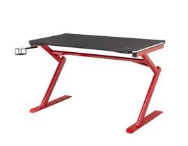 Brassex Office Desk in Black/Red 8028