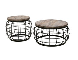 Primo Coffee & End Table in Grey 6083