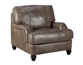 Signature Design by Ashley Kannerdy Leather Chair in Quarry Grey 8040220