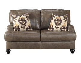 Signature Design by Ashley Kannerdy leather Loveseat in Quarry brown 8040235