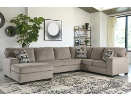 Ashley Ballinasloe Series 3pc LAF Sectional in Platinum 80702