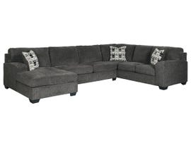 Signature Design by Ashley Ballinasloe Collection LAF Sectional in Smoke 80703