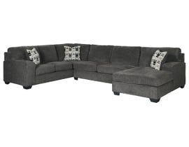 Signature Design by Ashley Ballinasloe Collection RAF Sectional in Smoke 80703
