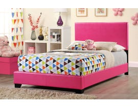 Global Furniture Upholstered Full Bed in Pink