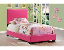 Global Furniture Upholstered Twin Bed in Pink