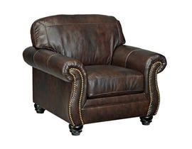 Signature Design by Ashley Bristan leather chair in walnut 8220220