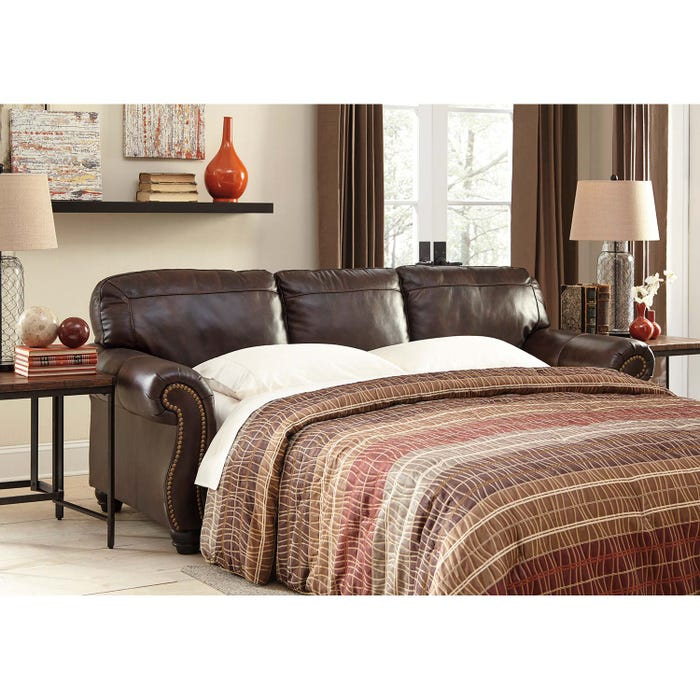 Miraculous Signature Design By Ashley Bristan Series Queen Sofa Sleeper In Walnut 8220239 Download Free Architecture Designs Terstmadebymaigaardcom