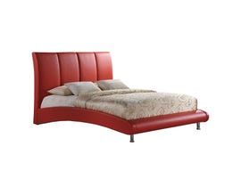 Global Furniture queen bed red 8272-R- QB