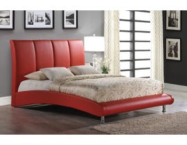 Global Furniture Arched Queen Bed in Red
