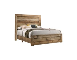 L-Style Furniture Leroy Series Panel Bed in Antique Natural C120960A