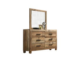 L-Style Furniture Leroy Series Dresser and Mirror Set in Antique Natural C120960A