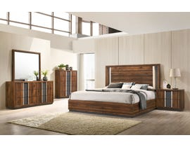 Lifestyle Sandra Series 6pc Bedroom Set in Walnut C8315A