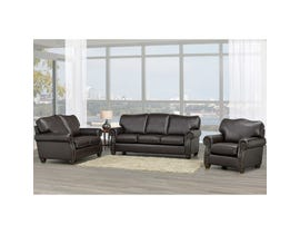 Sofa by Fancy Heritage 3-Piece Leather-Air Living room set in Brown 8350