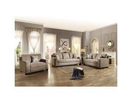 Mazin Gowan 3-piece Fabric Living room set in beige Brown 8477