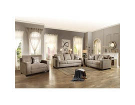 Mazin Gowan 3-piece Fabric Living room set in beige Brown 8477