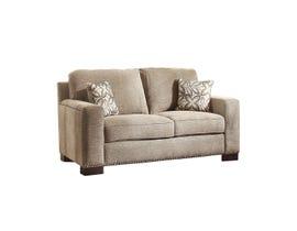 Mazin Gowan Fabric love seat in Beige Brown 8477