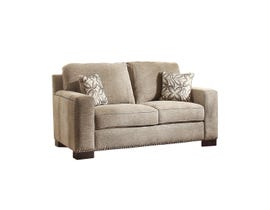Mazin Gowan Fabric love seat in Beige Brown 8477