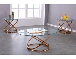 Brassex 3pc Coffee Table Set in Rose Gold 8546-13-2