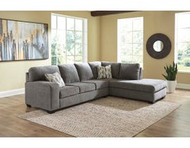 Signature Design by Ashley Dalhart Series 2pc Fabric Sectional in Charcoal 85703-66-17