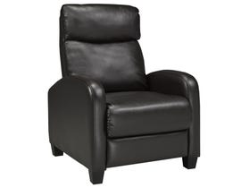 Brassex leather look recliner in brown 8628-BR