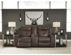 Signature Design by Ashley Reclining Loveseat with Console in Coffee 8670494