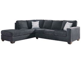 Signature Design by Ashley 2-Piece Sectional with Chaise in Slate 87213S1