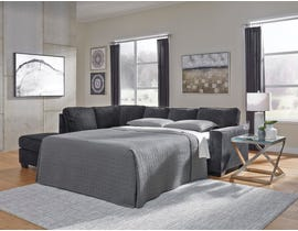 Signature Design by Ashley 2-Piece Sectional with Chaise and Sleeper in Slate 87213S4