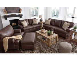 Signature Design by Ashley Bearmerton Series Leather Sofa Set in Vintage 87901