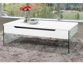 Brassex Coffee Table with Lift-Top and Storage in White 880-02