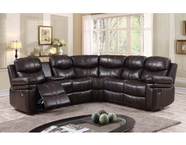 K Living Layla Sectional in Chocolate Brown 881186SEC