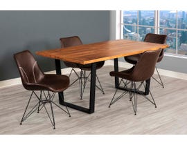 Primo International 7pc Dining Set in Brown/Black 7301